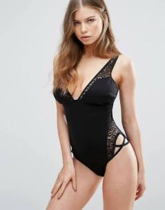 black swimsuit asos
