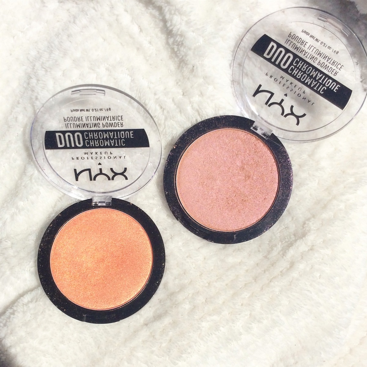 ~Review~ NYX Duo Chromatic Illuminating Powder - Crushed Bloom & Synthetica