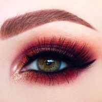 maroon eyeshadow pinterest